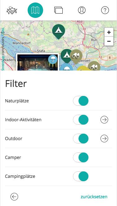 Design und Entwicklung Filter für interaktive Geo-App