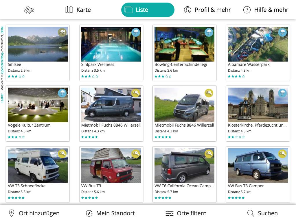 Design und Entwicklung Camper zum mieten App