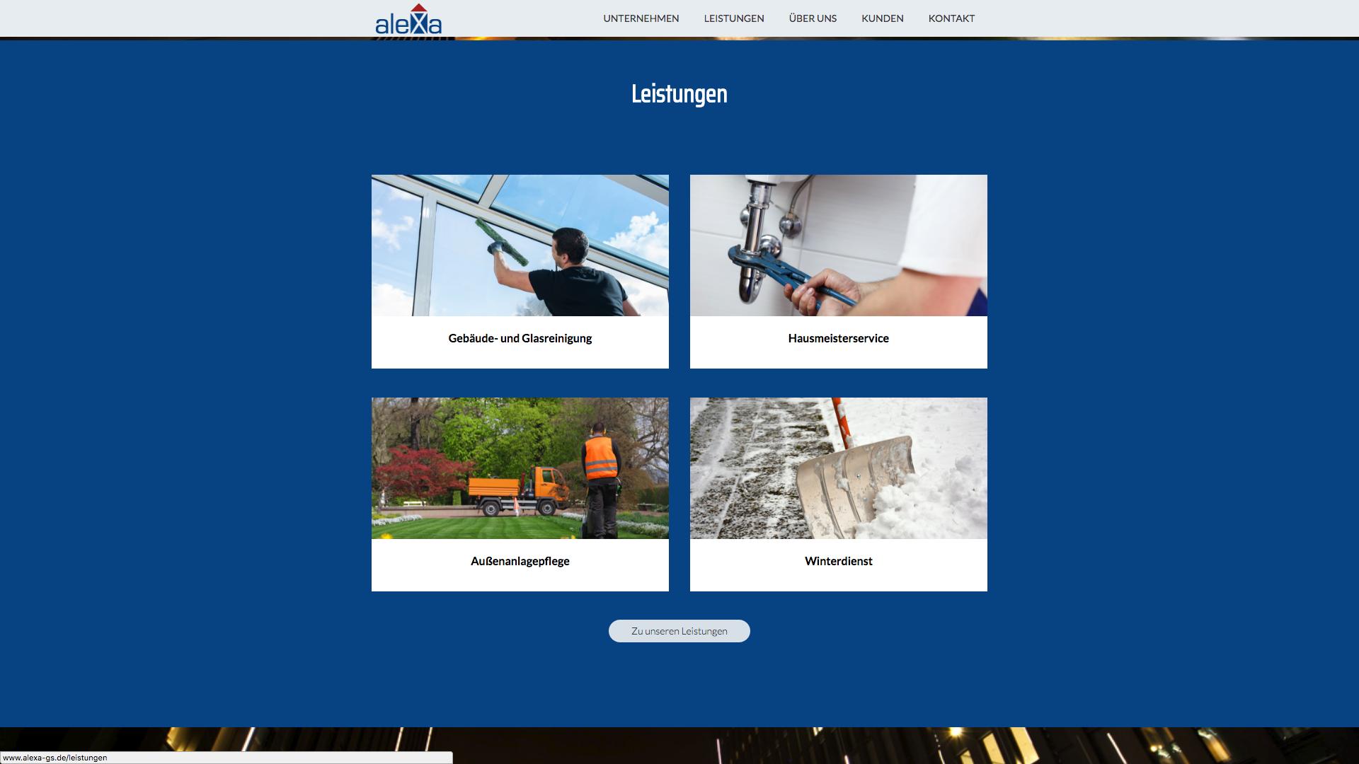Design und Entwicklung Website Alexa GS