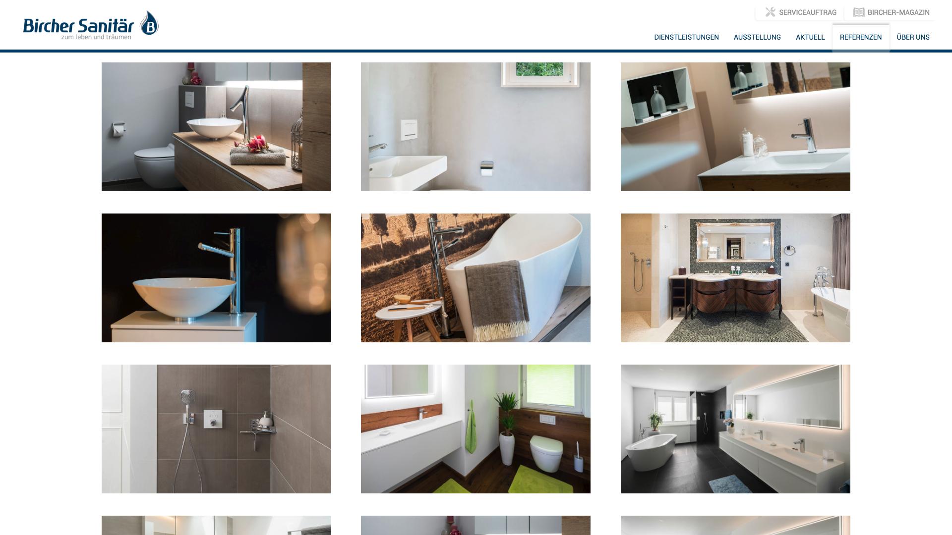 Design und Entwicklung Website Bircher Sanitär