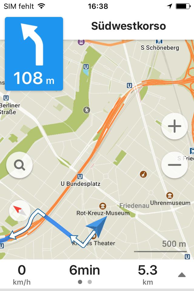 Design und Entwicklung Karten-App mit Offline-Navigation