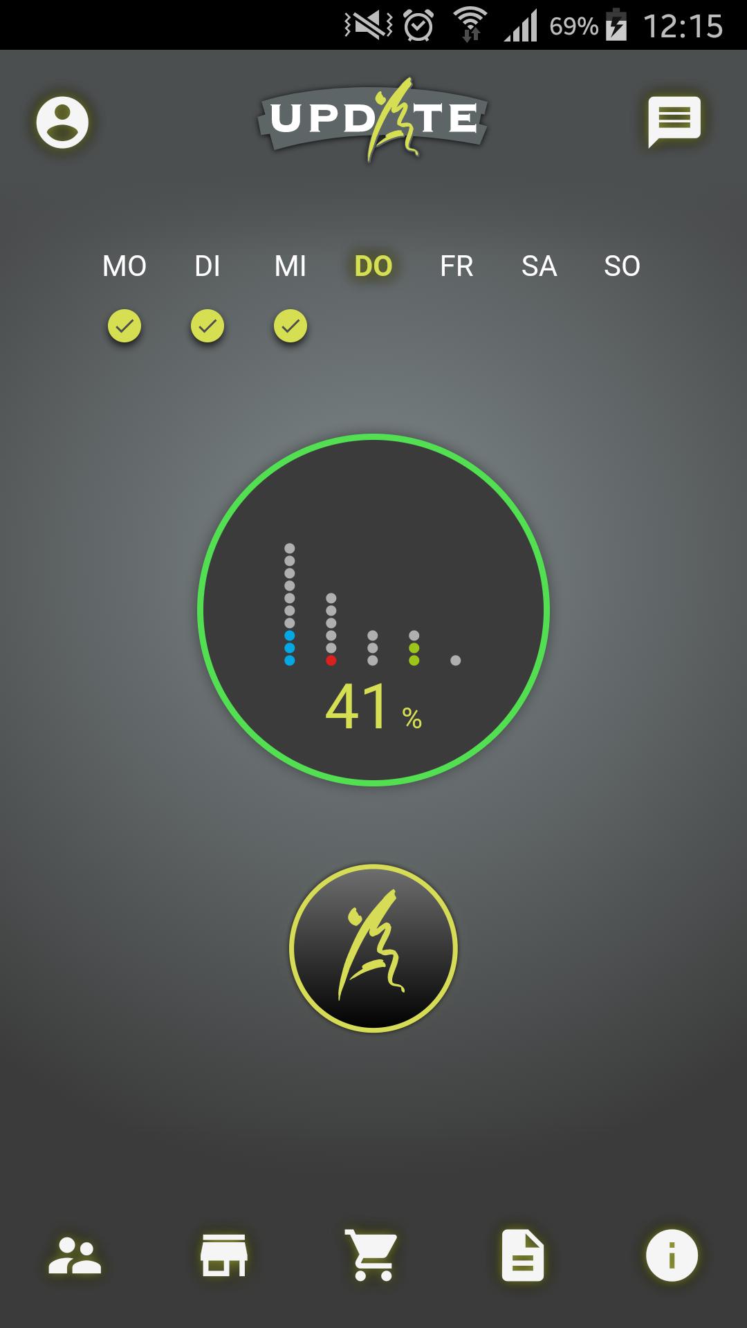 Design und Entwicklung Fitness-App - Dashboard