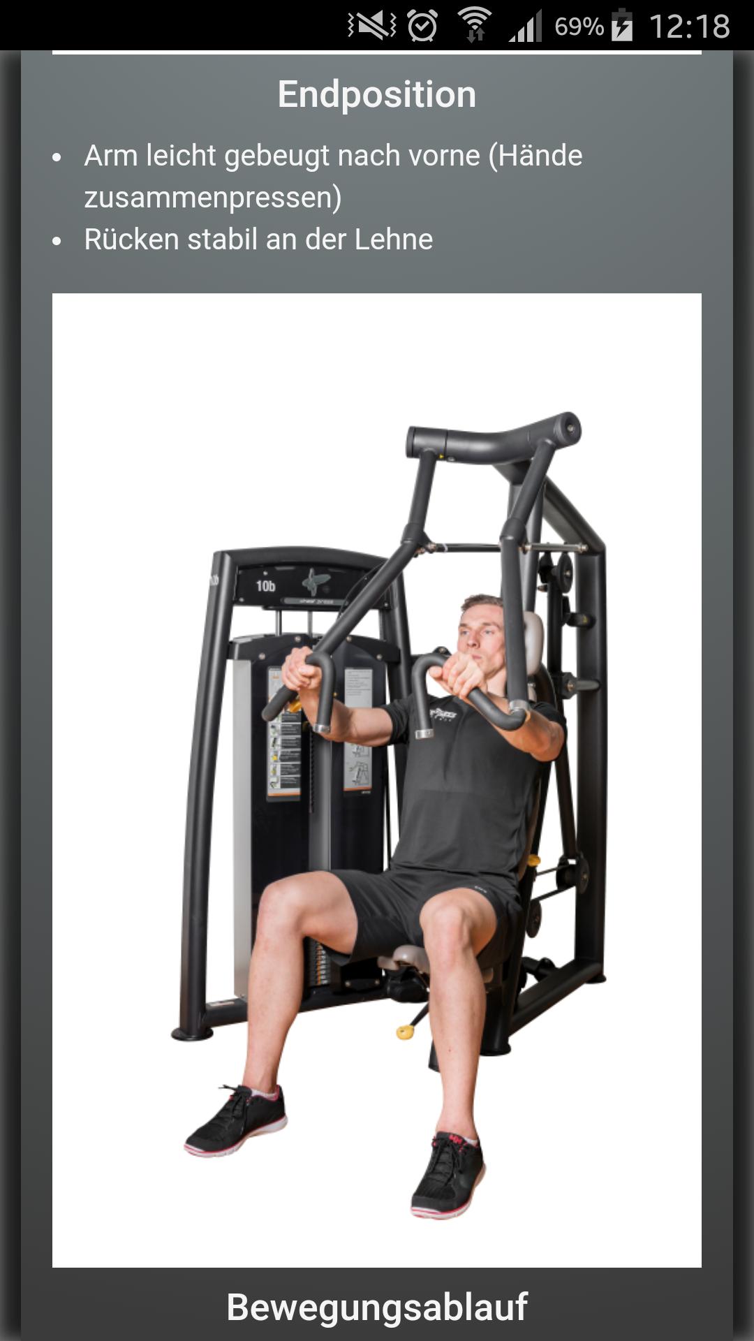 Design und Entwicklung Fitness-App - Trainingsanleitung