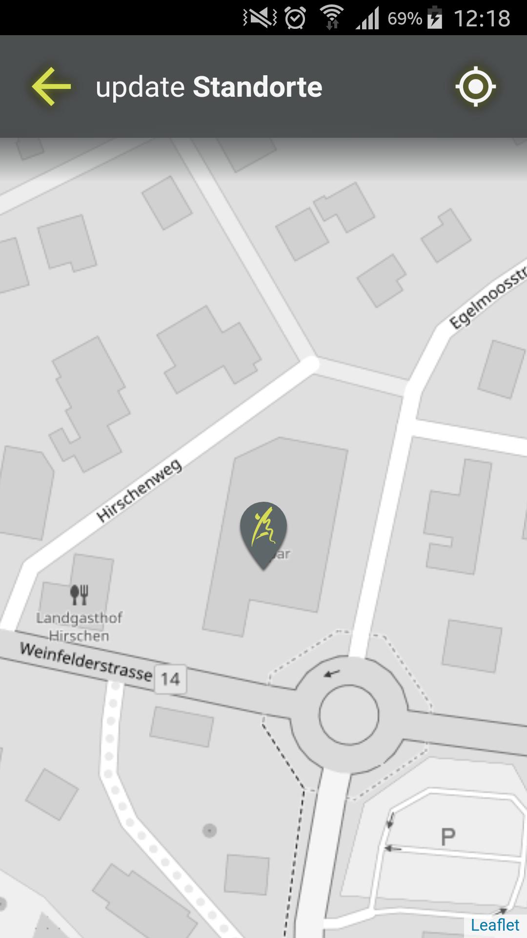 Design und Entwicklung Fitness-App - Interaktive Studio Karte