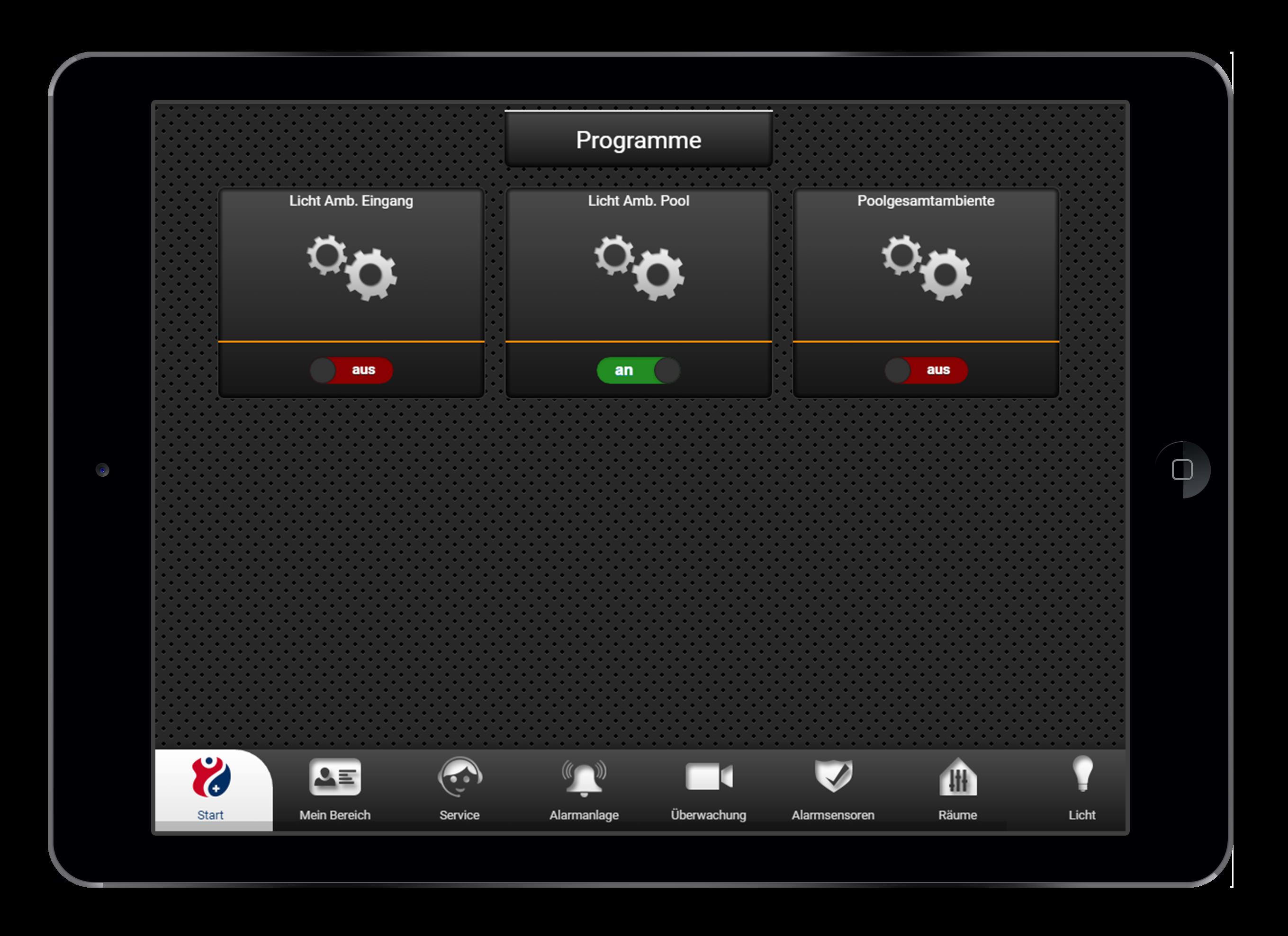 Design und Entwicklung Programmautomatisierung in Smarthome App