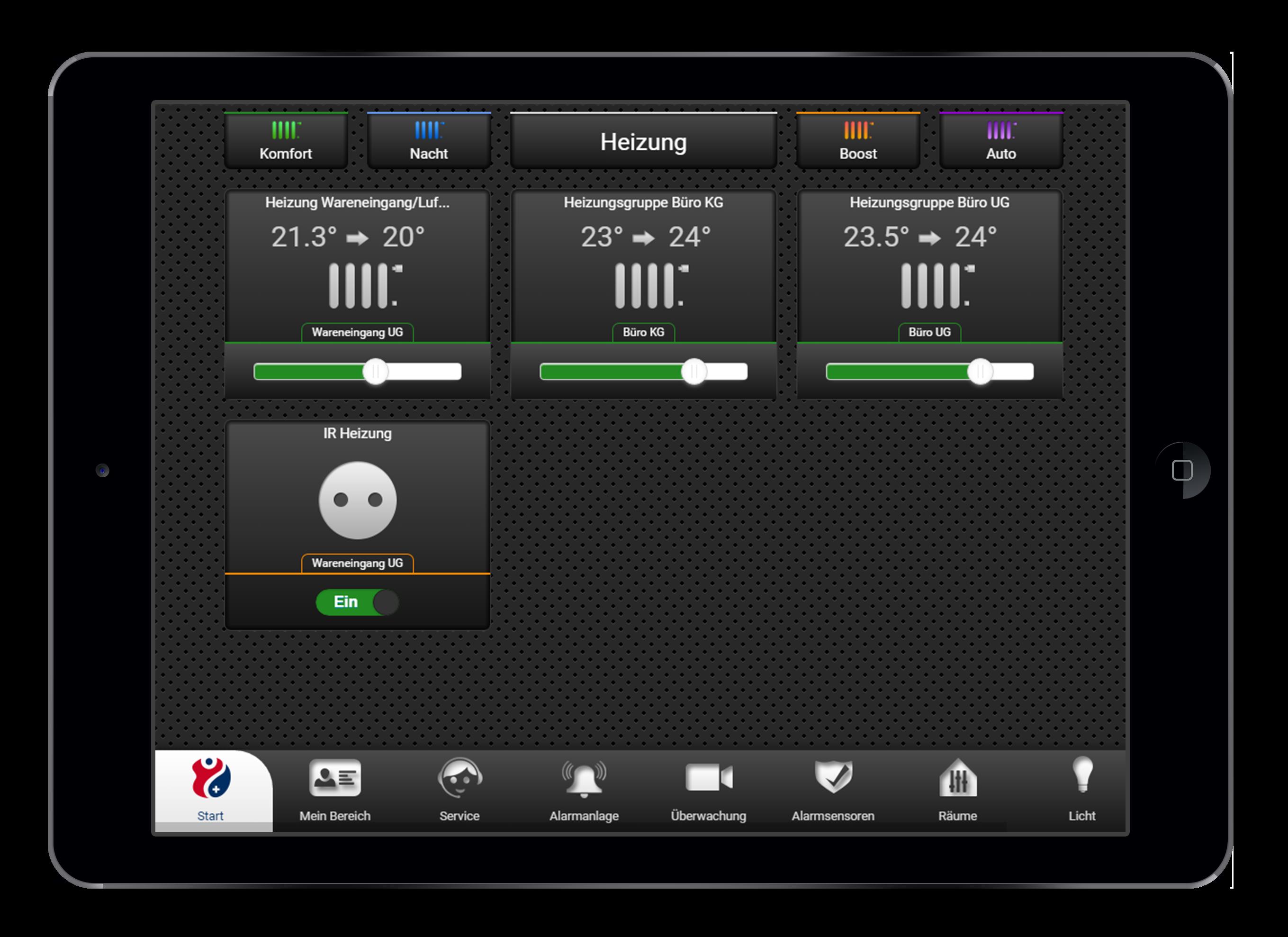Design und Entwicklung Heizungssteuerung in Smarthome App