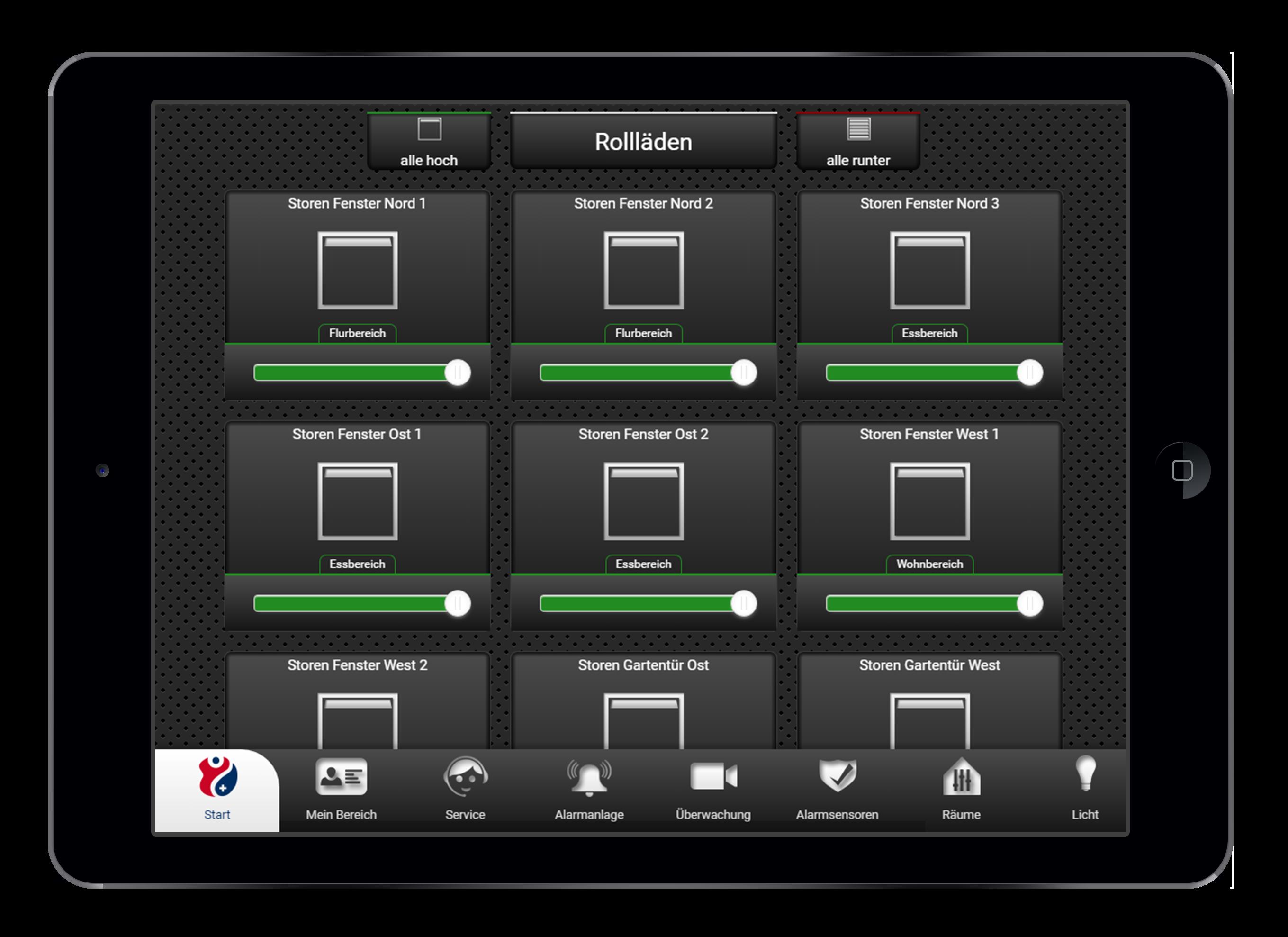 Design und Entwicklung Rollladensteuerung in Smarthome App