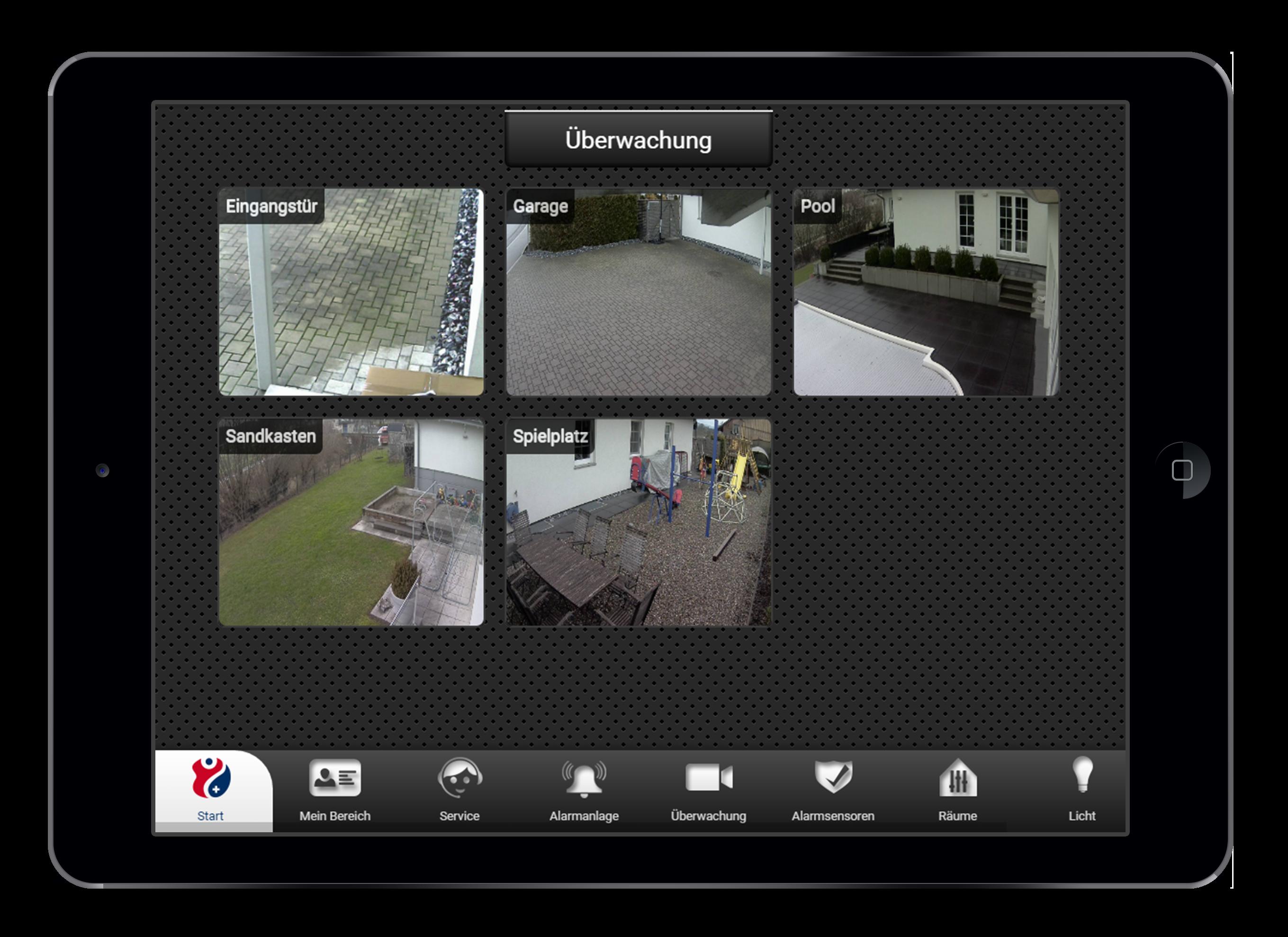 Design und Entwicklung Live-Kamera-Video in Smarthome App