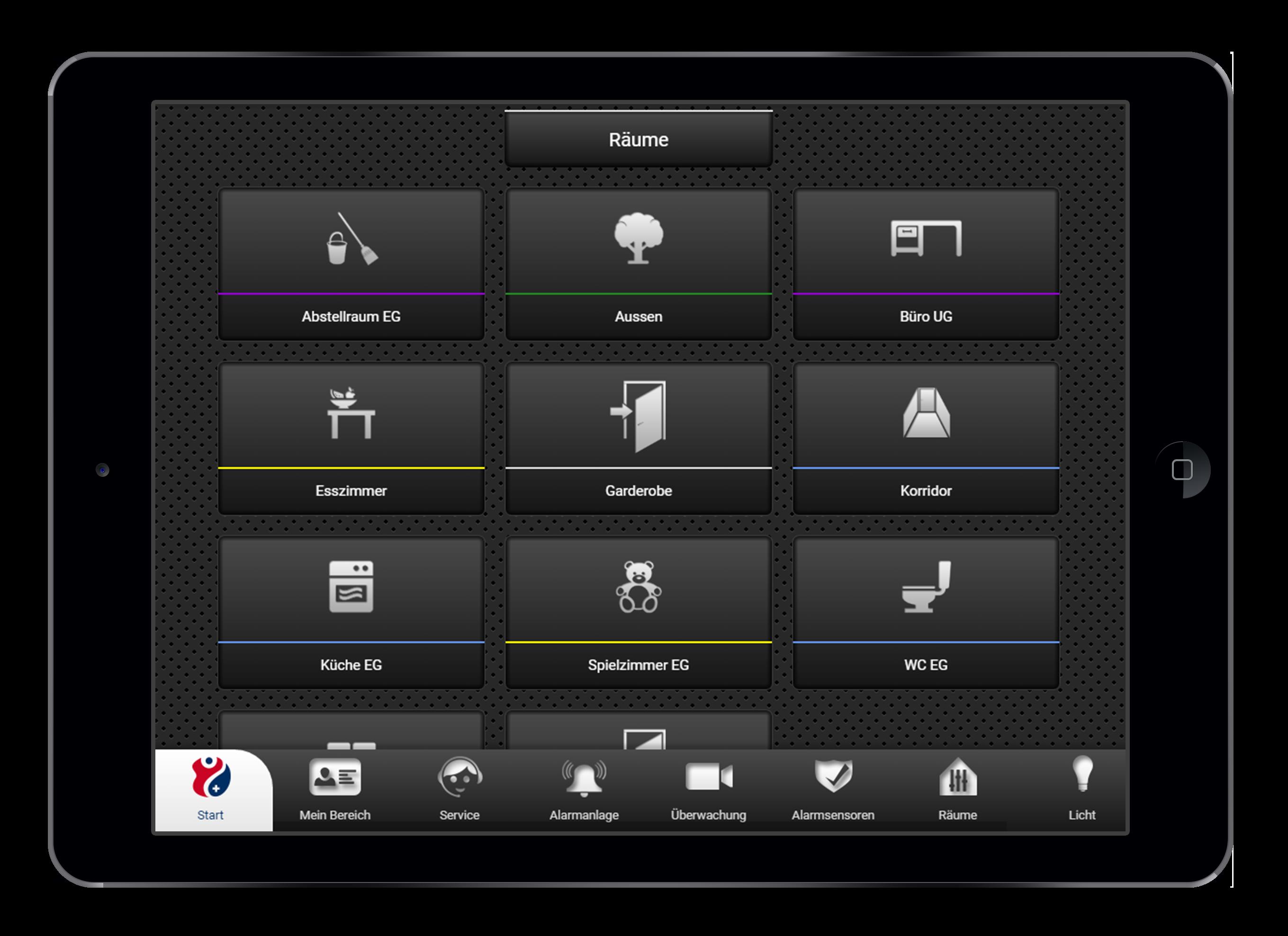 Design und Entwicklung Raumübersicht in Smarthome App