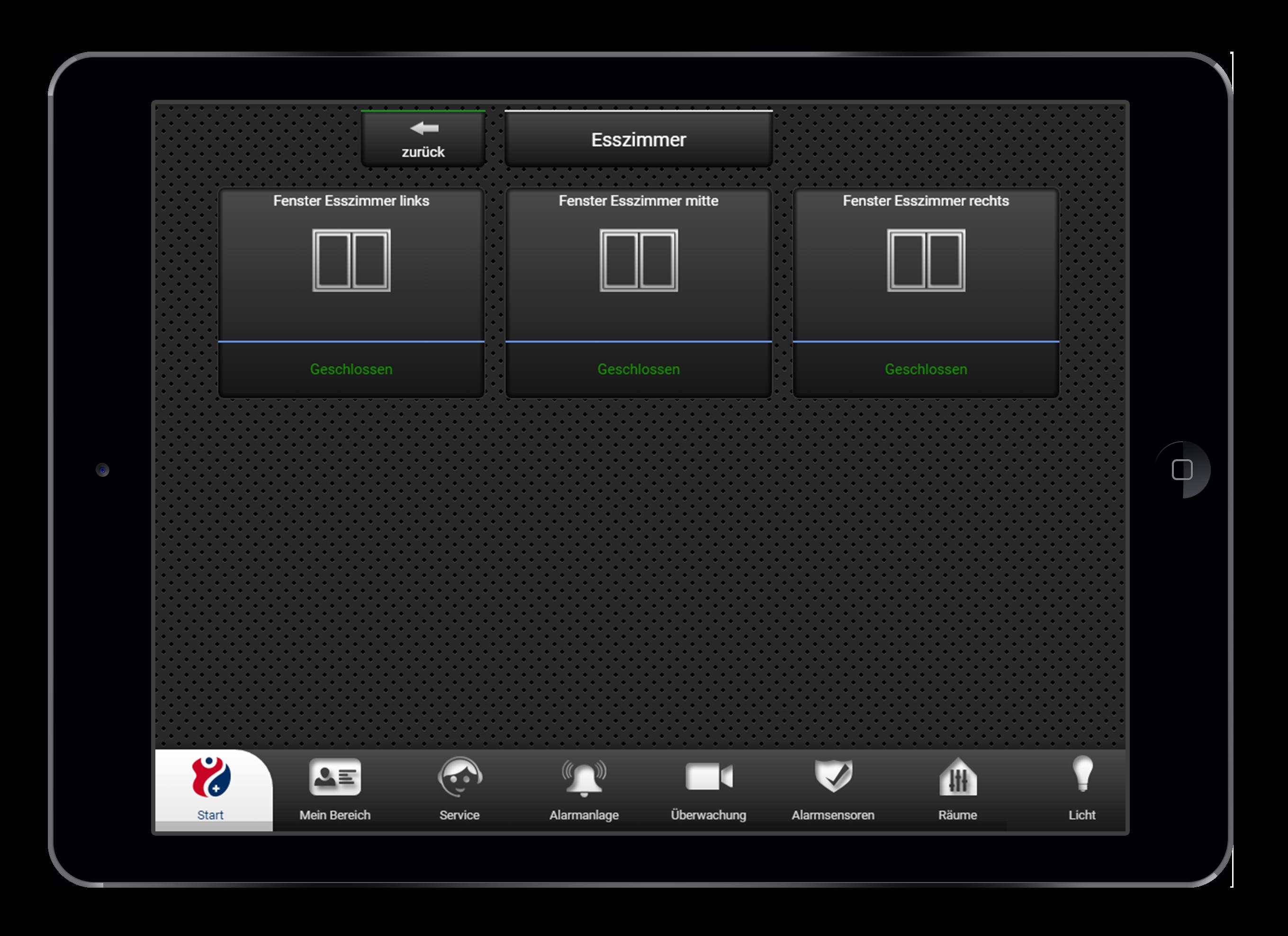 Design und Entwicklung Fensterstatus in Smarthome App