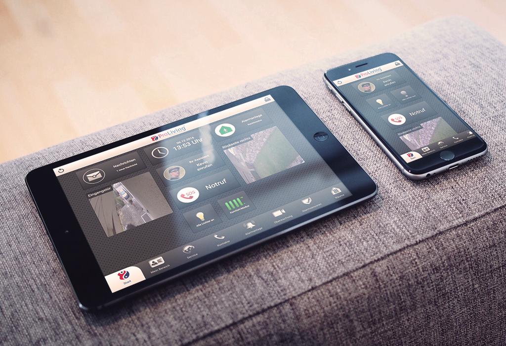Design und Entwicklung der Smarthome App für Tablets und Smartphones