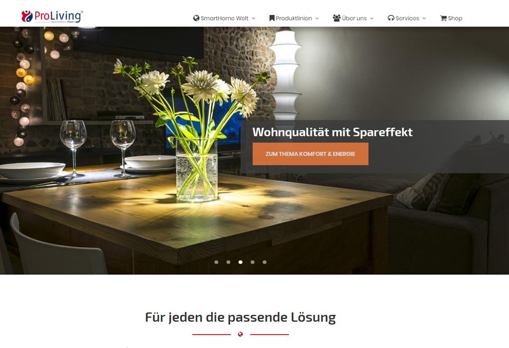 Design und Entwicklung Website ProLiving