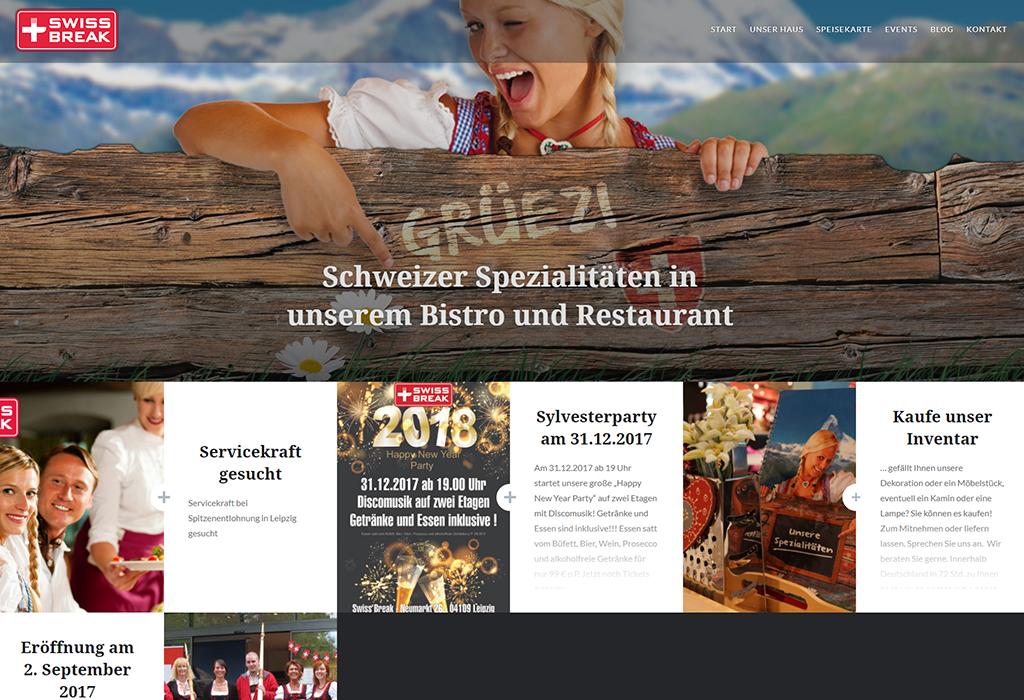 Design und Entwicklung Website SwissBreak
