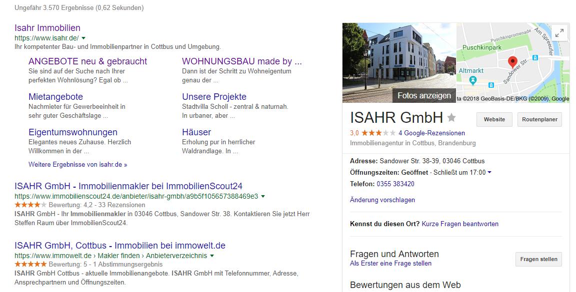 Suchmaschinenoptimierung für Websites