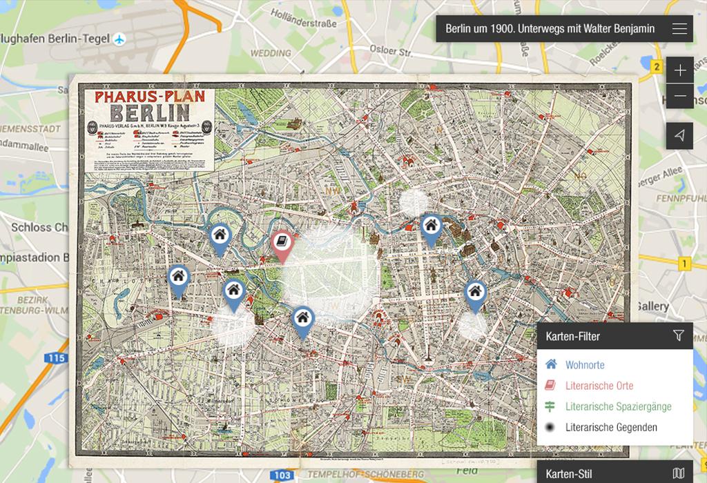 Design und Entwicklung der interaktiven Geo-App Walter Benjamin