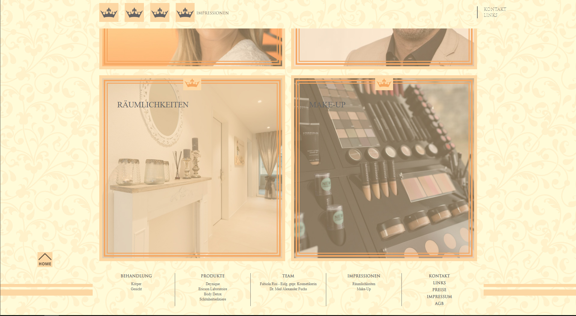 Design und Entwicklung Website Schönheitsatelier