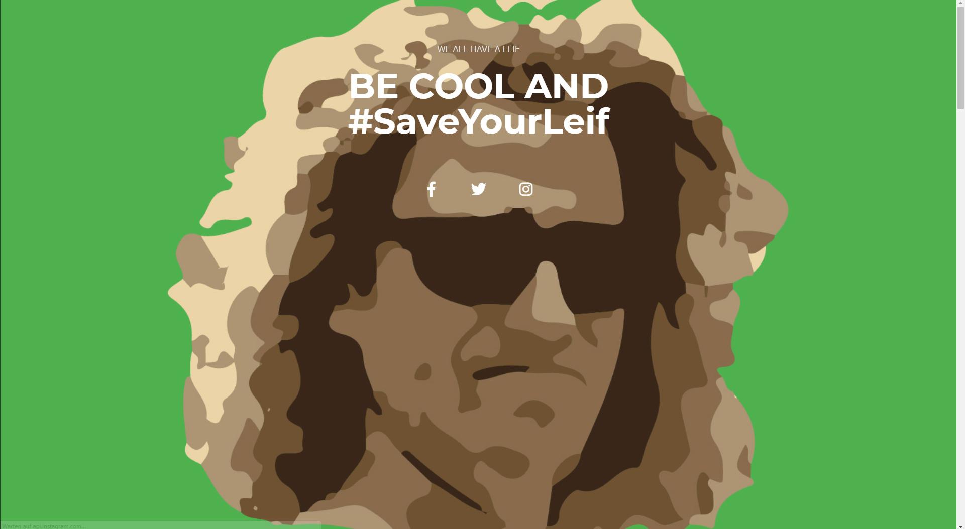Design und Entwicklung Website #SaveYourLeif